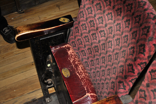 theater seat - close up