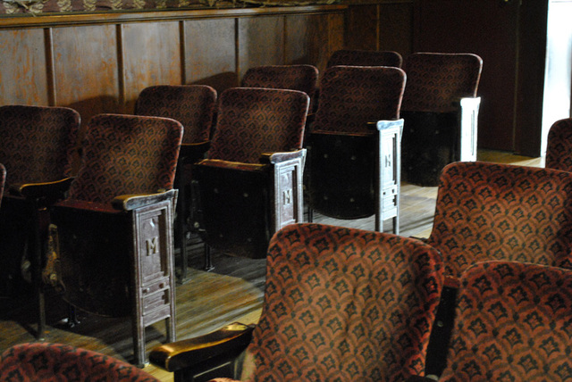 theater seats - showing side panel with