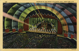 Radio City Music Hall, Interior, Postcard from 1936