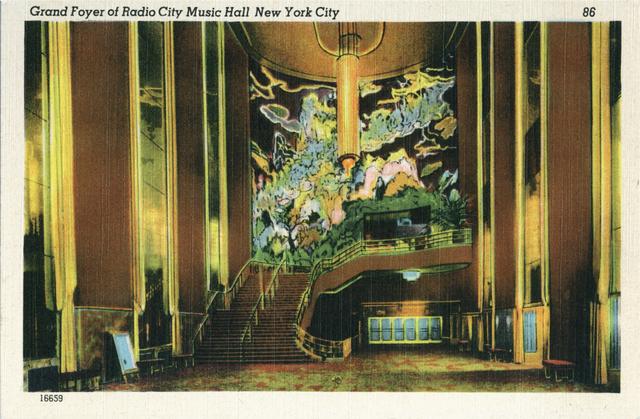 Radio City Music Hall, Grand Foyer, Postcard