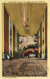 Radio City Music Hall, Grand Foyer, Postcard from 1938