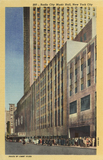 Radio City Music Hall, Exterior, Postcard from 1945