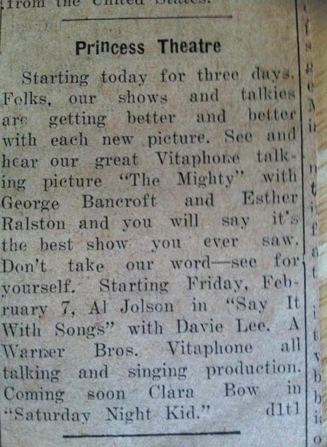 1930 newspaper clipping courtesy Barbara Achelpohl‎.