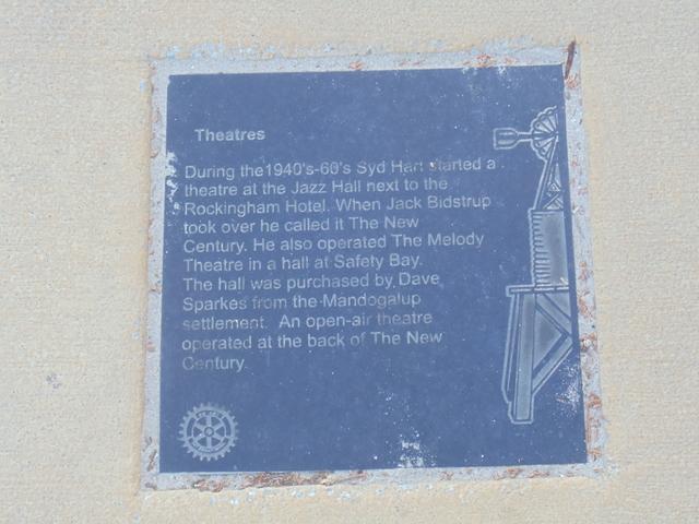 Century Theatre and Gardens  Kent Street, Rockingham Beach, WA - Commemoration  Plaque