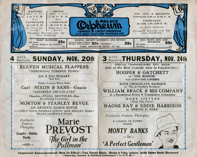 1927 program (centerfold)