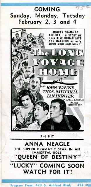 1940 Program (Back)