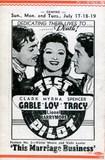 1937 Program (Back)