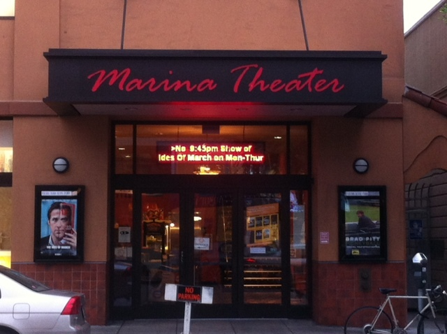 Entrance to the Marina Theater, Oct 2011