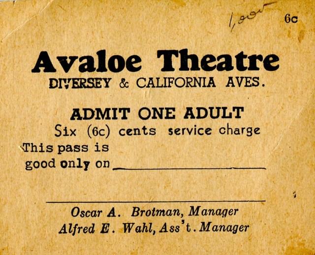 Avaloe Theater ticket