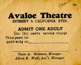 Avaloe Theater ticket