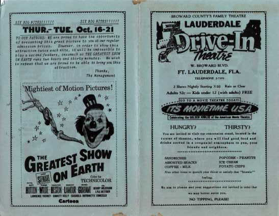 Lauderdale Drive-In Ad - front