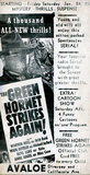 The Green Hornet Strikes Again! Promo Card 1941