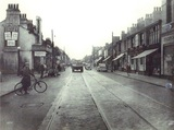 Edgeley cinema on the left in July, 1953.