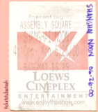 Shanghai Noon Ticket Stub