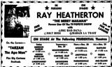 RAY HEATHERTON- TV PERSONALITY