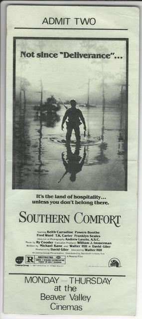 "Beaver Valley Cinemas ""Southern Comfort"""