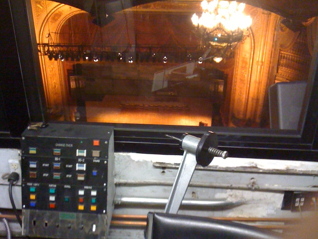 View of stage from booth