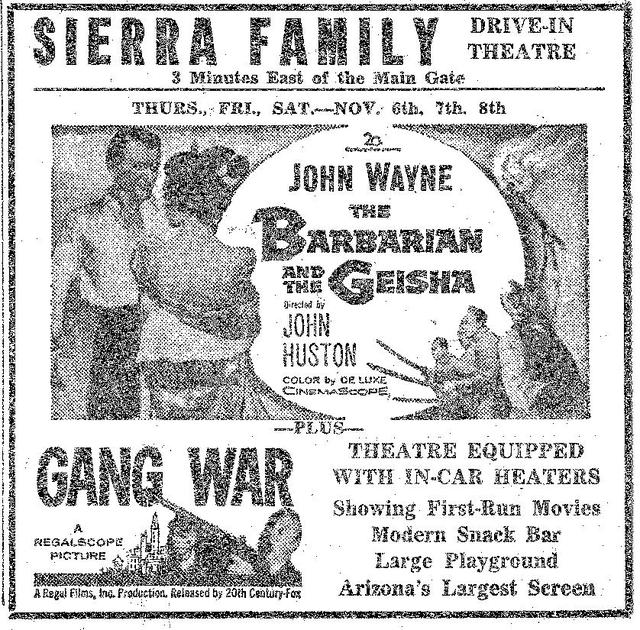 November 1958 Sierra Family Drive-in...