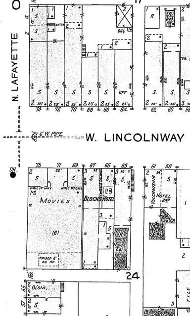 1926 Sanborn Map courtesy Kevin Matthew Pazour.