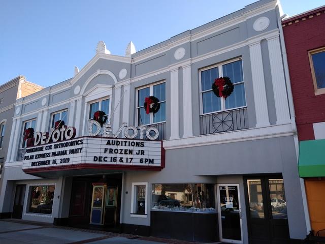 DeSoto Theatre - Rome, GA. - December 2019 - Broad St. view
