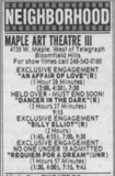Maple Art Theatre