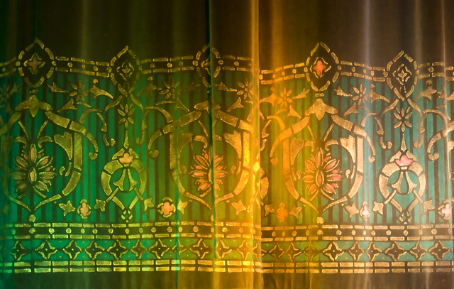 Detail of Main Drape Stencilling