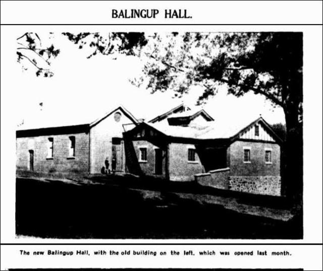 Balingup Town Hall  40 Jayes Road, Balingup, WA  - 1930