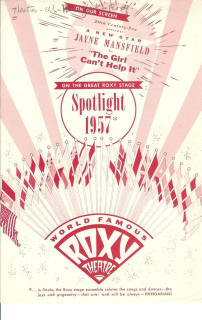 1957 NYC ROXY