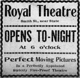 Royal Theatre, Perth Amboy New Jersey October 28, 1911.