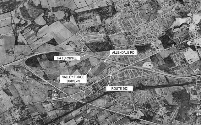 Valley Forge Drive-In Aerial View
