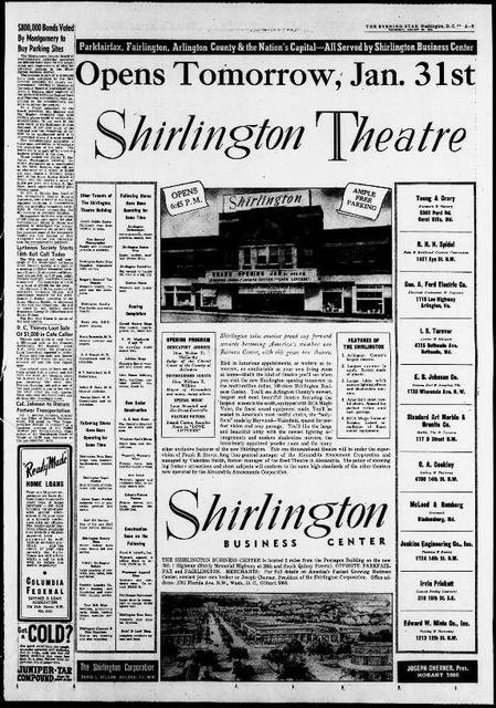 Shirlington Theatre - Evening Star (Washington, D.C.), January 30, 1946