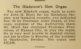 """[""""Organist for opening night""""]"""