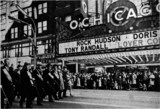 O'CHICAGO added to the marquee for the St. Patrick's Day parade in 1962.