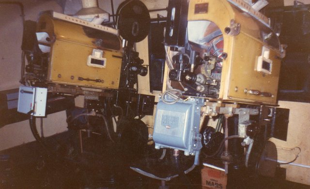 Coliseum's projection room, pre 1994