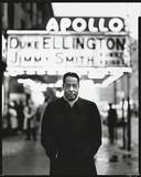 Duke Ellington in front of the Apollo Theatre. 1963 photo credit Richard Avedon , © Richard Avedon Foundation, courtesy The New Yorker Magazine.