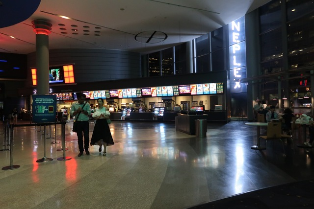Wide shot of lobby