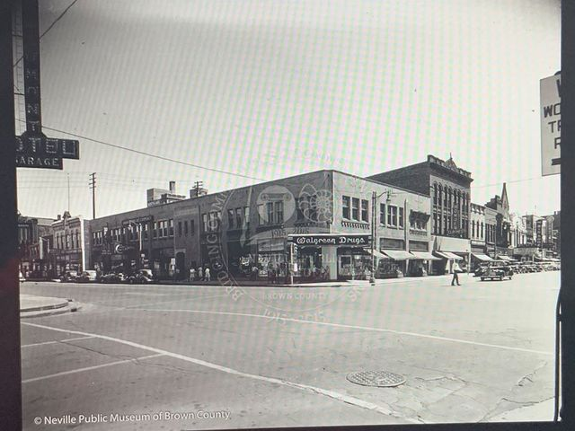 Circa 1940 photo credit and courtesy of Neville Public Museum of Brown County.