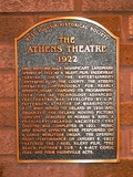 Athens Theatre, DeLand - Plaque (2007)