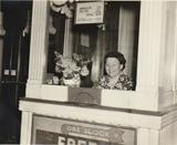Jo Neighrighter ticket seller at Adams Theater 1940