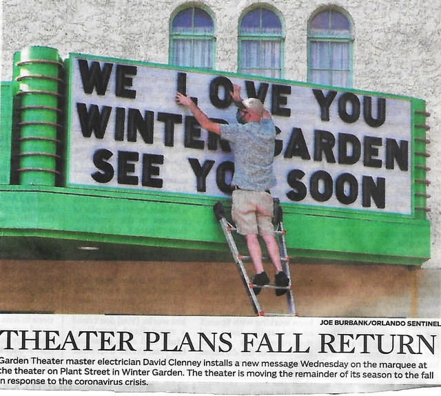 Garden Theatre during covid19.