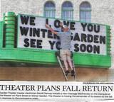 "[""Garden Theatre during covid19.""]"
