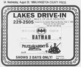 """[""""Lakes Drive-In Final Ad""""]"""