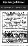 """[""""NY Times ad 12/23/1964""""]"""