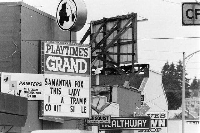 Playtime's Grand Theater on Bremerton's Callow Avenue in the 1980s