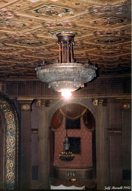 Main chandelier in the auditorium