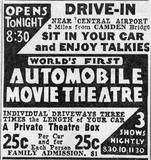 CAMDEN (NJ) Drive-In Theatre advertisement.