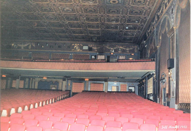 View from orchestra floor looking towards rear of auditorium
