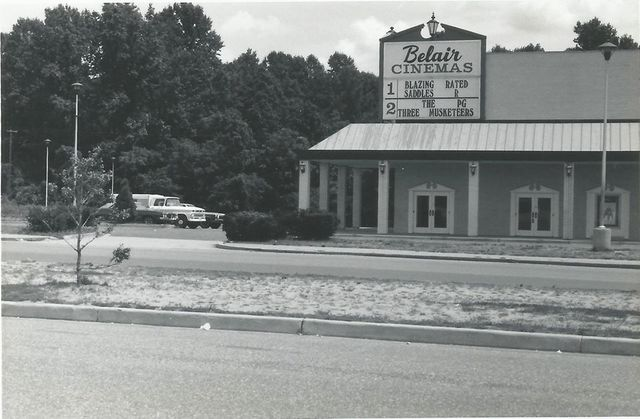 1974 photo as Belair Cinemas with 2 screens courtesy Ronny White.