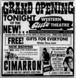 """[""""Western Drive-in Grand Opening Ad 6/14/61""""]"""