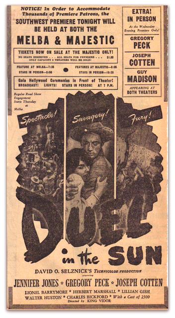 Melba Movie Ad..Dallas Texas